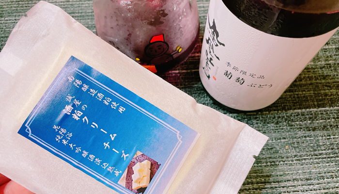 鳳凰美田 ぶどう「飲み方その2」:酒粕クリームチーズと一緒に